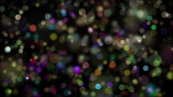 Celebration Colorful Bokeh Particles