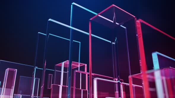 Animated Glass Rectangles