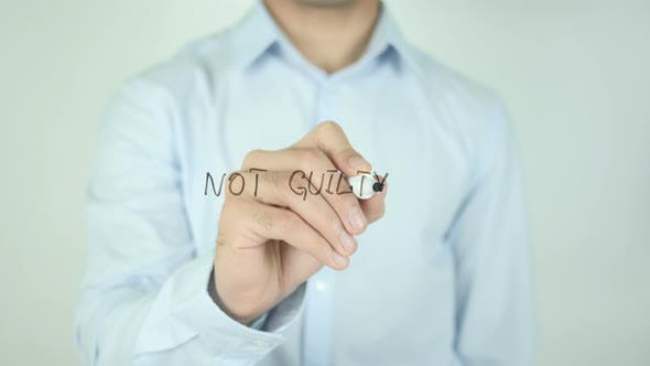 Thumbnail for NOT GUILTY, Writing On Screen