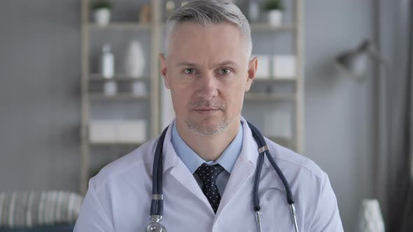 Thumbnail for Portrait of Senior Doctor with Grey Hairs