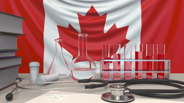 Thumbnail for Clinic Laboratory Equipment on Canadian Flag Background