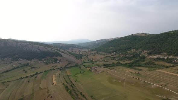 Mountain Valley In Summer
