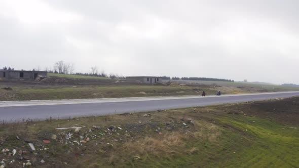 Motobikers Aerial View