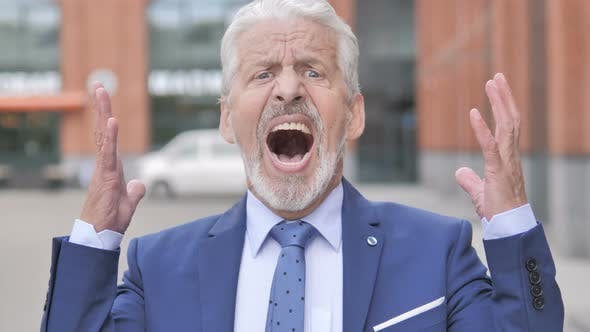 Thumbnail for Screaming Old Businessman Shouting