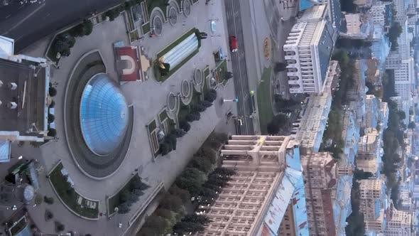Thumbnail for Vertical Video of the Center of Kyiv Ukraine