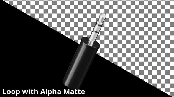 Thumbnail for Floating 3.5mm Audio Jack on Black with Alpha Matte