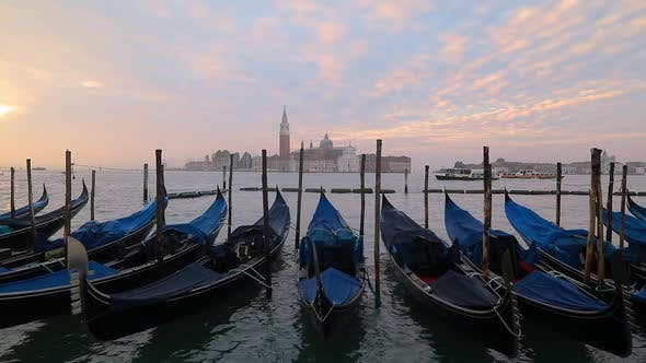 Thumbnail for Venice Gondolas on San Marco Square, Venice, Italy