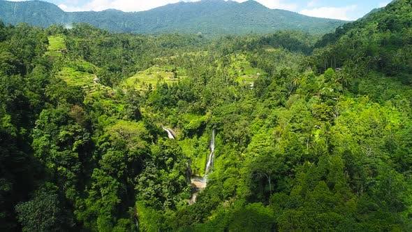 Thumbnail for Waterfall near Rice Field