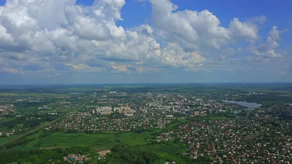 Thumbnail for Aerial View City Berdichev Ukraine
