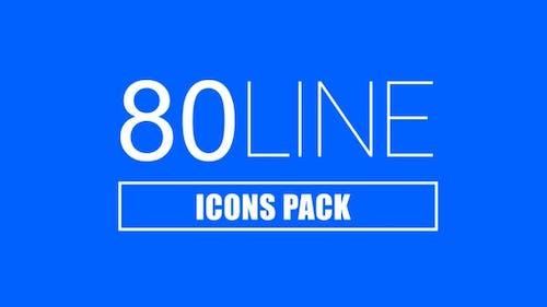 Pack de 80 Icones de ligne