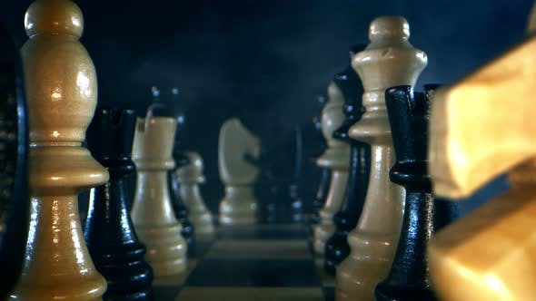 Strategy Game Chess Board And Wooden Stones 2