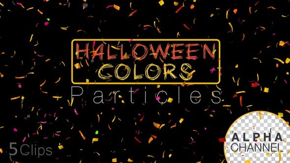 Thumbnail for Halloween Celebration Confetti Particles