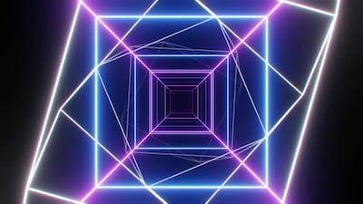 Neon Light VJ Loop Background