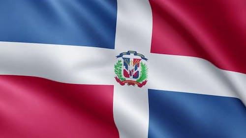 Flag of Dominican Republic   UHD   60fps