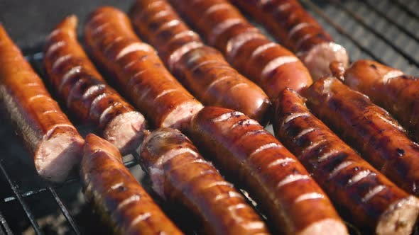 Thumbnail for Grilling Tasty Sausages on Barbecue Grill