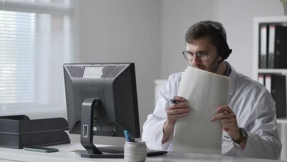 Male Doctor Having Headache