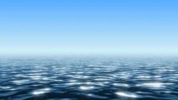 Thumbnail for Endless Ocean under Clean Blue Sky