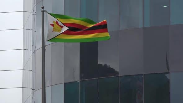 Zimbabwe Flag Background 2K