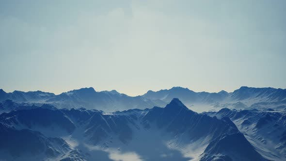 Thumbnail for Snow Covered Beautiful Mountain Peaks