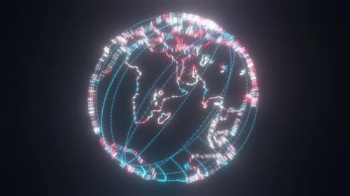 Planet Earth Hud Hologram 4k