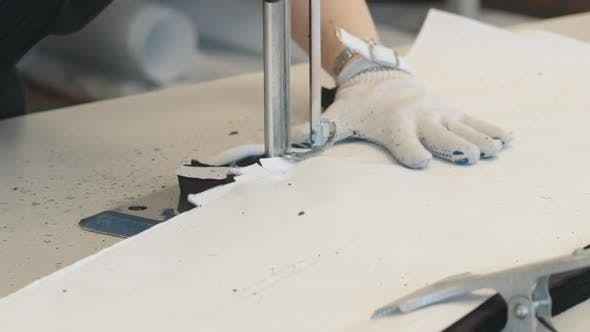 Thumbnail for Textile Cutting Tool at Work