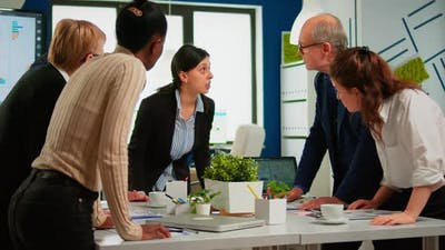 Group of Diverse Businesspeople Meeting for Brainstorming Ideas