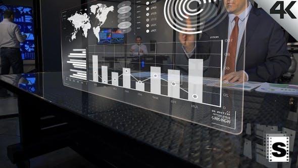 Futuristic Business Data Monitor