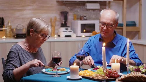 Couple in Love Having Meal