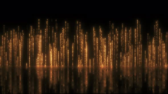 Golden Particle Fountains