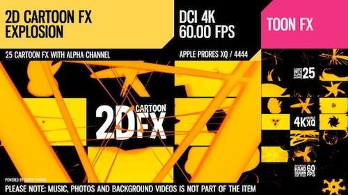 2D Cartoon FX (Explosion Set 4)