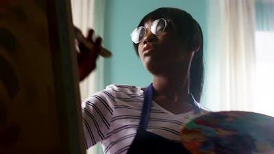 Black Woman Artist Is Working