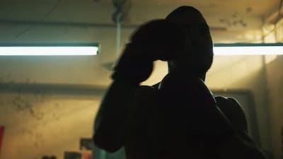 Boxer warming up
