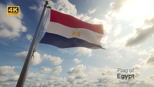 Thumbnail for Egypt Flag on a Flagpole - 4K