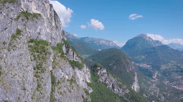 Thumbnail for Aerial View. Beautiful Rocky Mountains. Summer Mountain Landscape, Stone and Trees