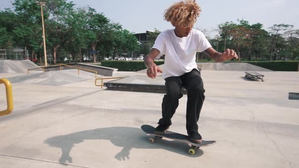 Thumbnail for Skateboard At Skatepark