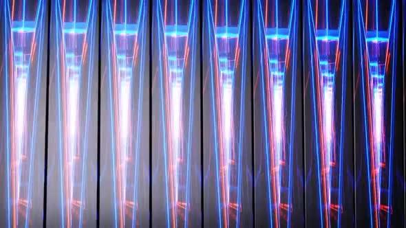 Neon Rectangles Lights Loop