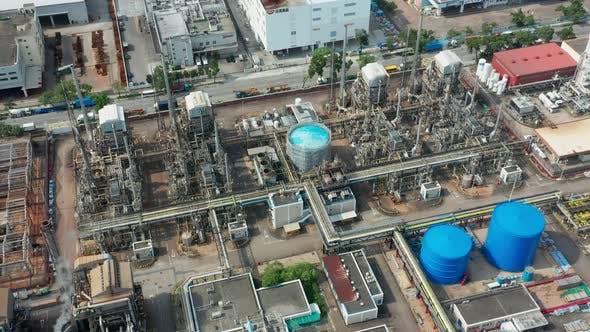 Thumbnail for Top Ansicht der Industriefabrik in Hong Kong