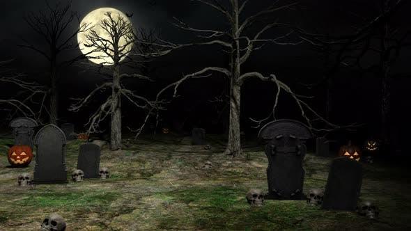 Halloween-Friedhof 4k