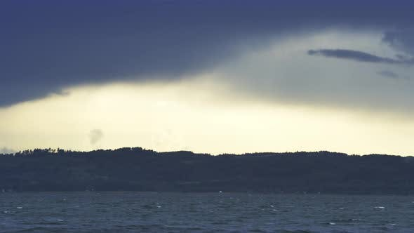 Thumbnail for Breathtaking View of the Vast Ocean and Dark Clouds Clearing Up