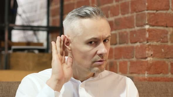 Thumbnail for Middle Age Man Listening Gesture