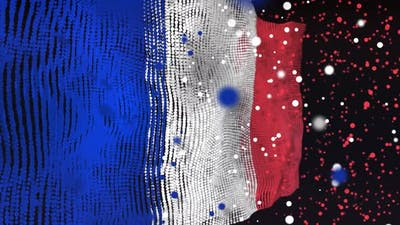 French Flag Particle Animation
