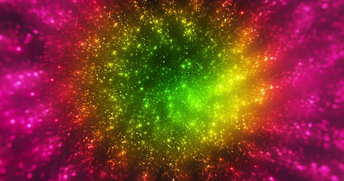Colorful Glitter Particles Background