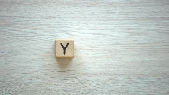 Thumbnail for Yes Word Made of Wooden Cubes, Motivation to Be Sincere and Kind, Psychology