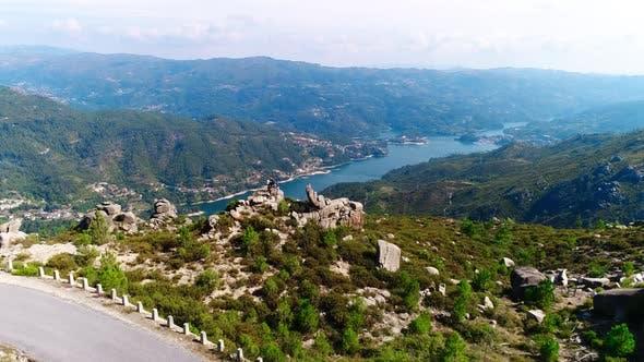Aerial Footage Beautiful Nature Portugal