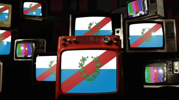 Thumbnail for Flag of La Rioja Province, Argentina, and Retro TVs.