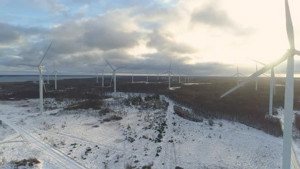 Thumbnail for Wind Turbines Aerial View