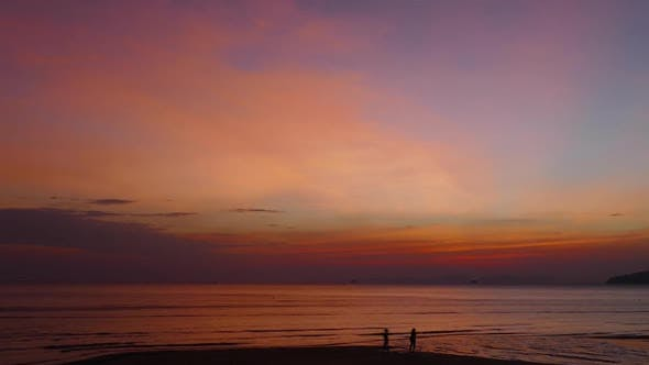 Thumbnail for Sunset on the Tropical Beach, Krabi, Thailand,