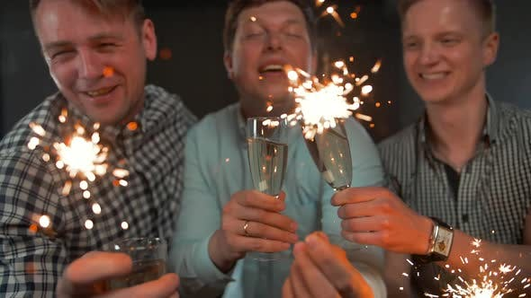 Thumbnail for Sparkles. Holiday Celebrating By Young Men