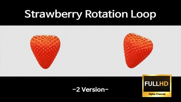 Thumbnail for Strawberry Rotation Loop(Without Stem)