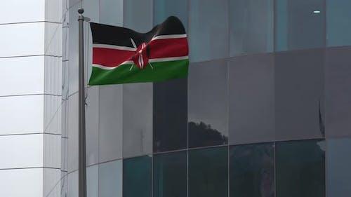 Kenya Flag Background 4K